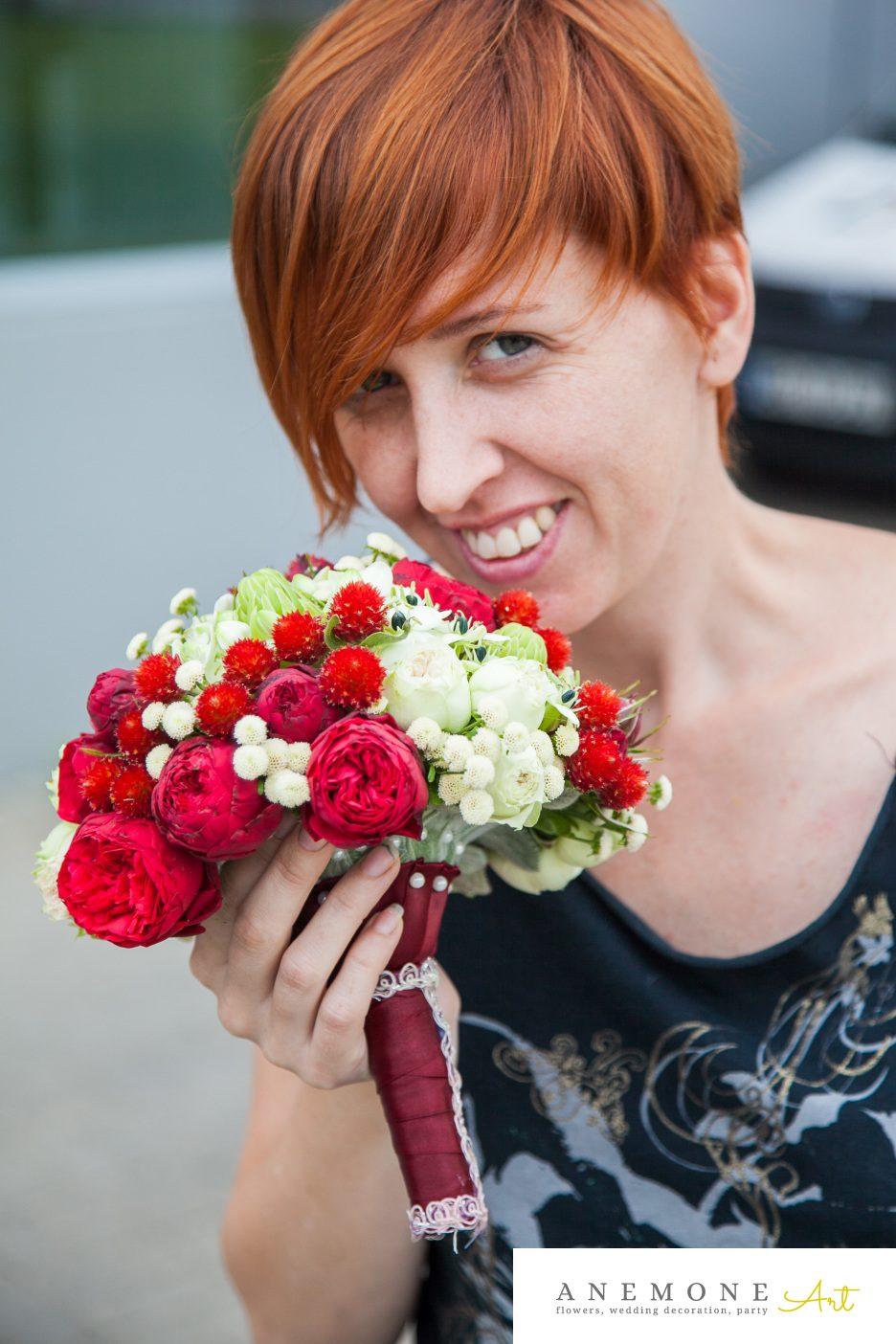 Poza, foto cu Flori de nunta buchet mireasa, rosu in Arad, Timisoara, Oradea (wedding flowers, bouquets) nunta Arad, Timisoara, Oradea