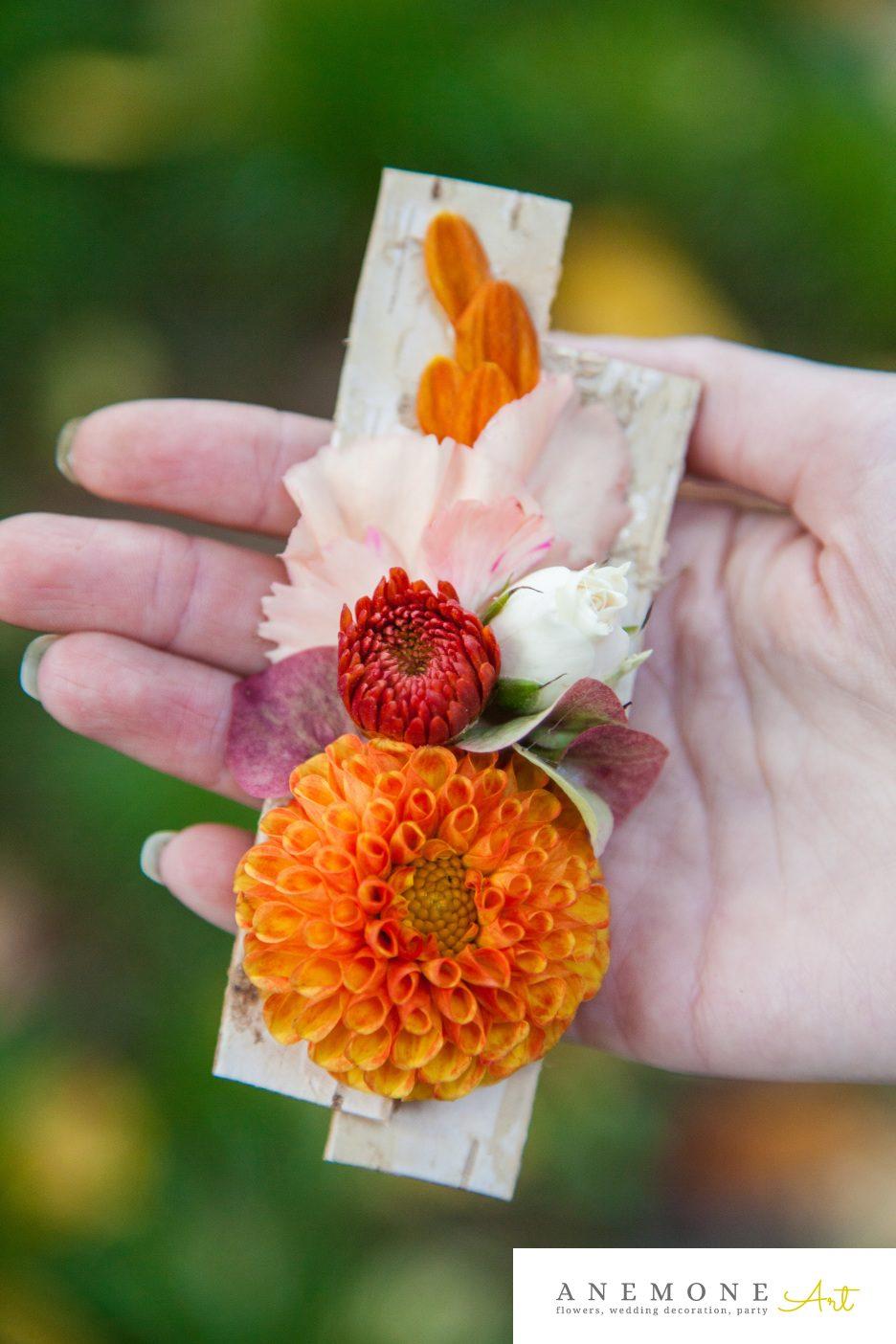 Poza, foto cu Flori de nunta caramiziu, cocarda, portocaliu in Arad, Timisoara, Oradea (wedding flowers, bouquets) nunta Arad, Timisoara, Oradea