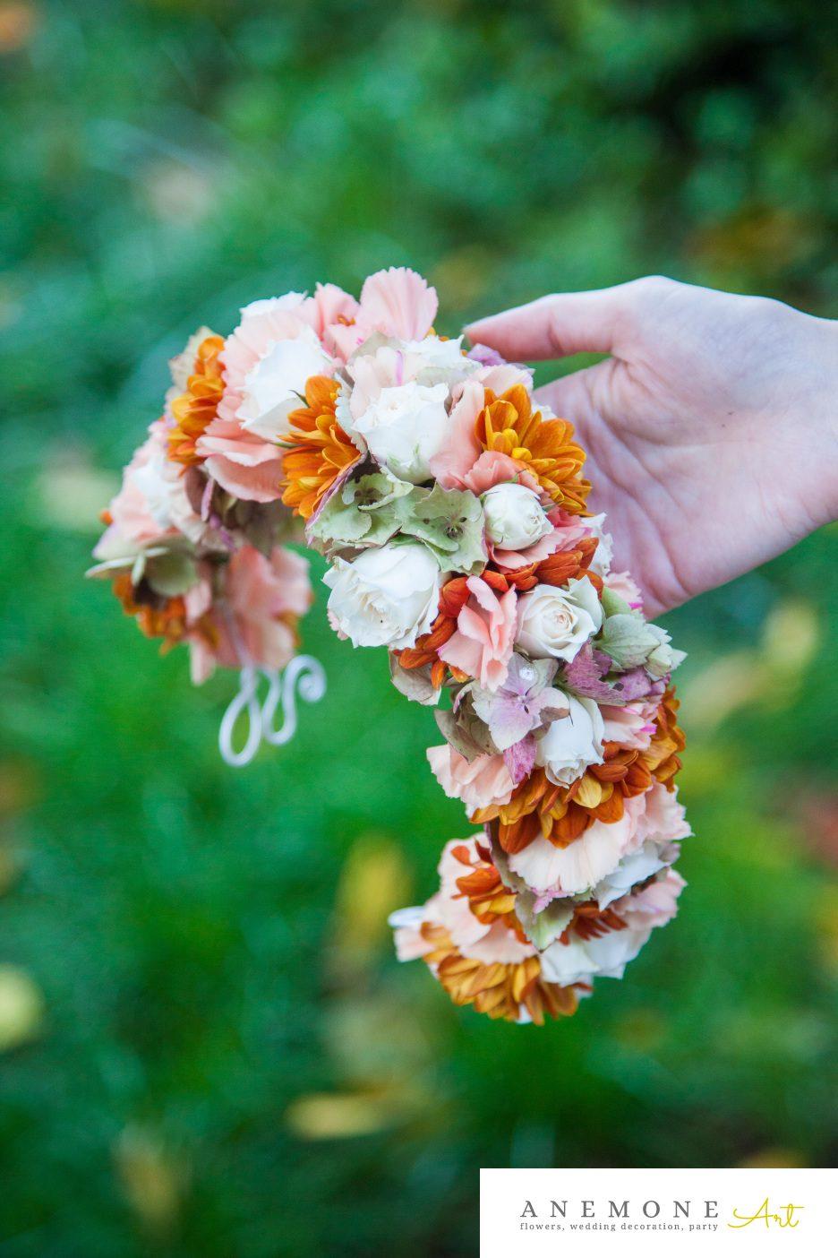 Poza, foto cu Flori de nunta aranjament par, caramiziu in Arad, Timisoara, Oradea (wedding flowers, bouquets) nunta Arad, Timisoara, Oradea