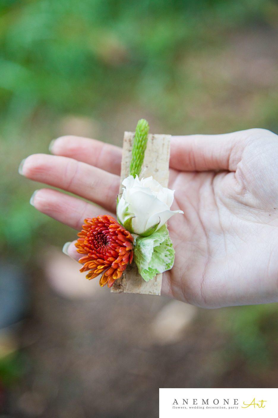 Poza, foto cu Flori de nunta caramiziu, cocarda in Arad, Timisoara, Oradea (wedding flowers, bouquets) nunta Arad, Timisoara, Oradea