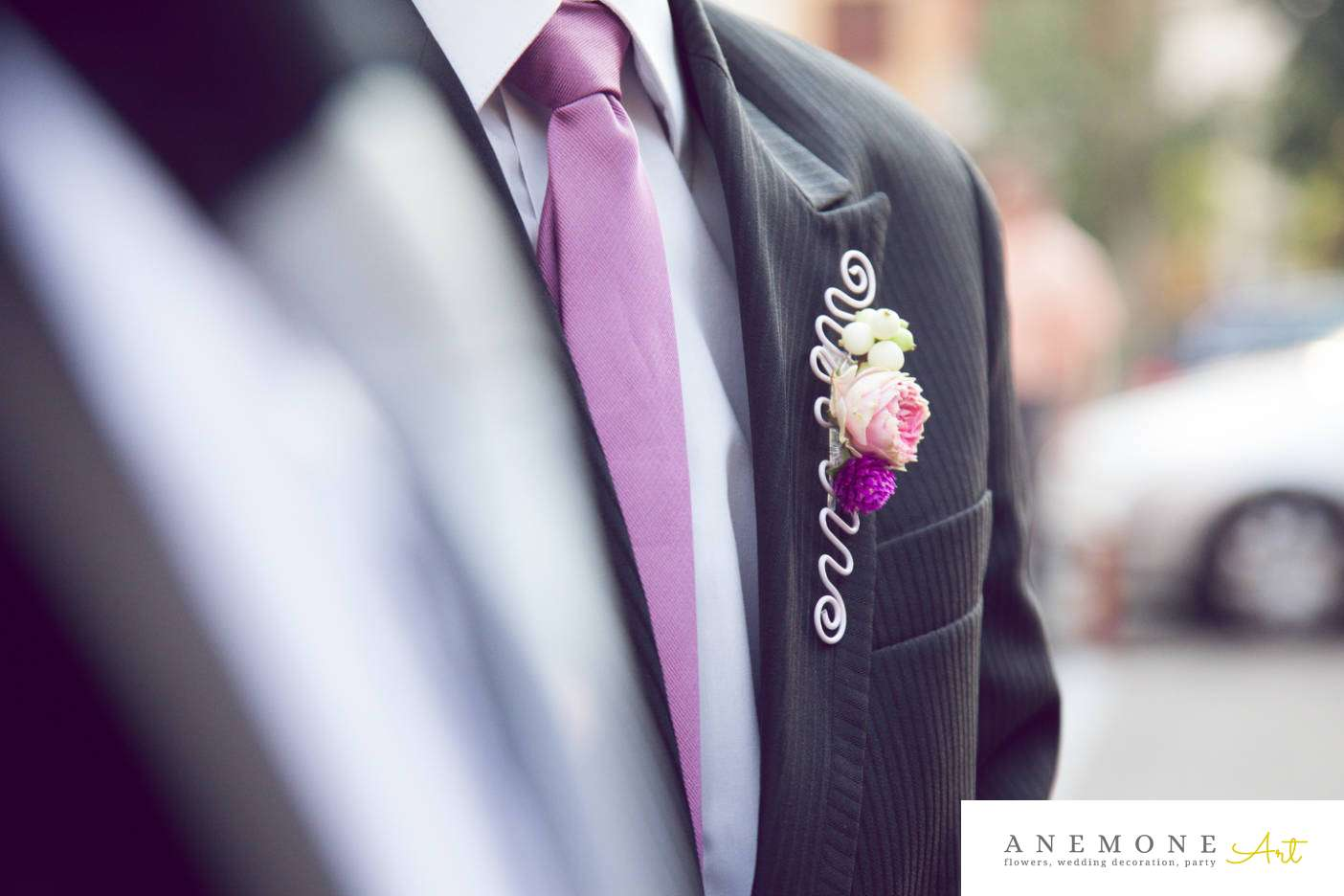 Poza, foto cu Flori de nunta butoniera, cocarda, mini-rosa, roz, ticlam, trandafiri englezesti in Arad, Timisoara, Oradea (wedding flowers, bouquets) nunta Arad, Timisoara, Oradea