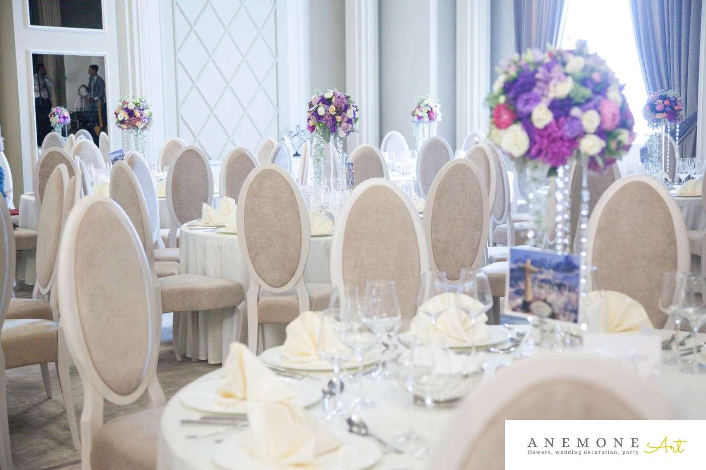 Poza, foto cu Flori de nunta cristale, decor masa, mov, roz in Arad, Timisoara, Oradea (wedding flowers, bouquets) nunta Arad, Timisoara, Oradea