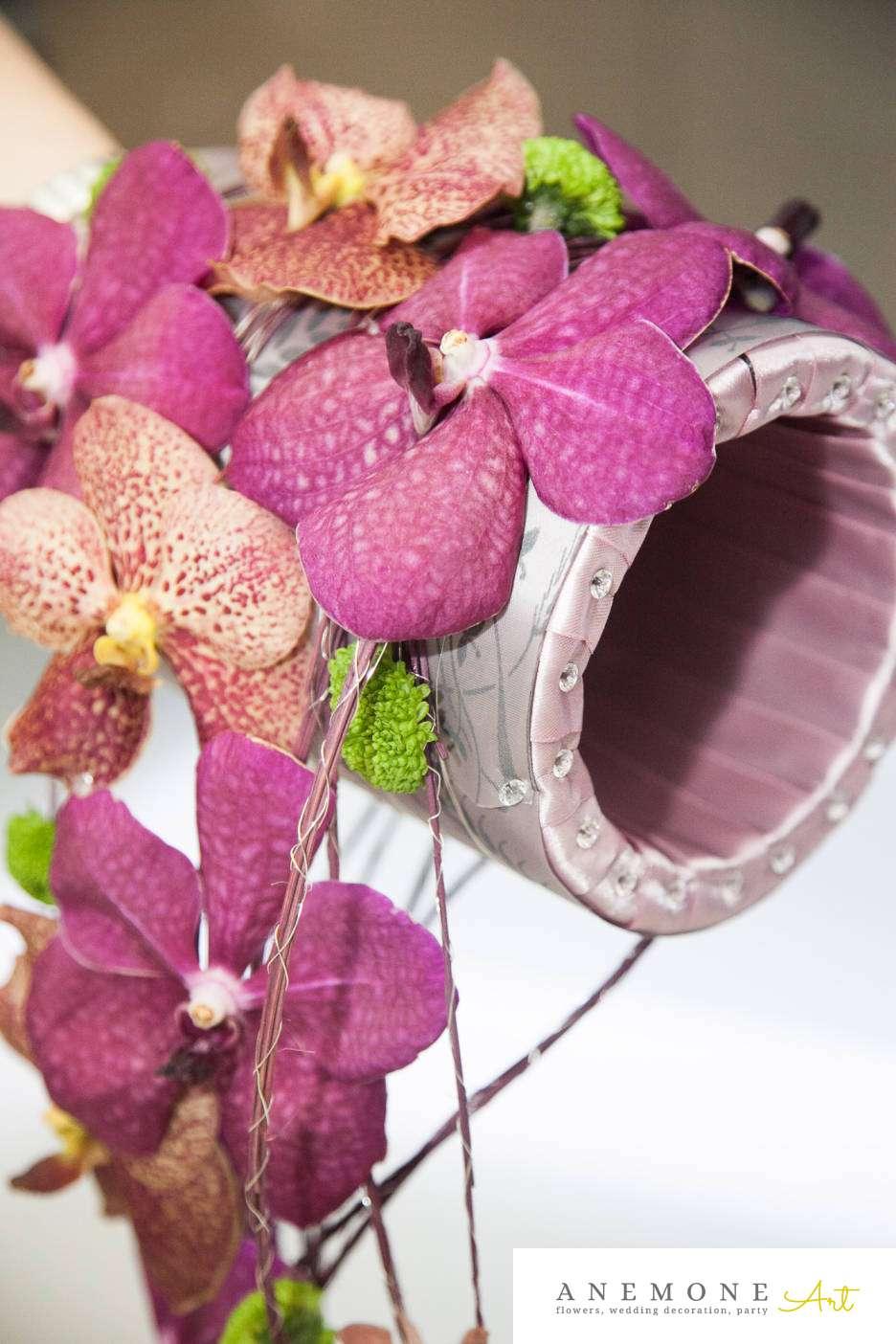 Poza, foto cu Flori de nunta buchet mireasa, curgator, detaliu, modern, orhidee, vanda in Arad, Timisoara, Oradea (wedding flowers, bouquets) nunta Arad, Timisoara, Oradea