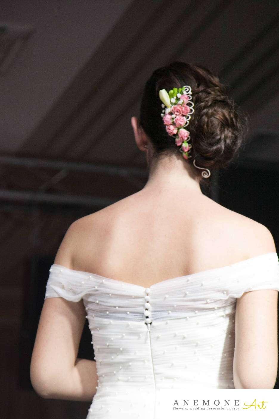 Poza, foto cu Flori de nunta aranjament par, mini-rosa, roz in Arad, Timisoara, Oradea (wedding flowers, bouquets) nunta Arad, Timisoara, Oradea