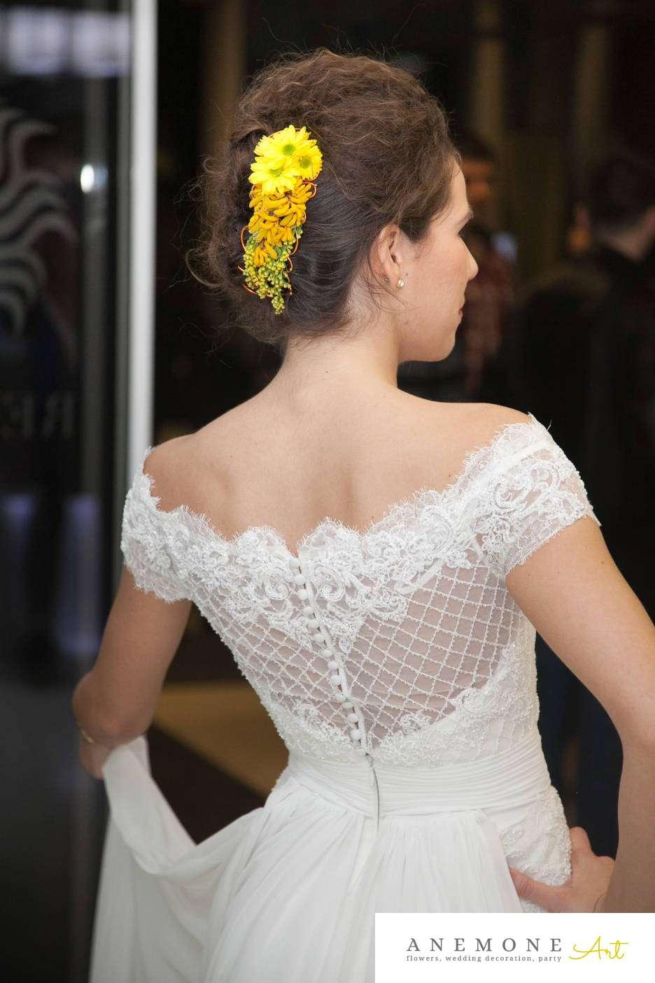 Poza, foto cu Flori de nunta aranjament par, galben in Arad, Timisoara, Oradea (wedding flowers, bouquets) nunta Arad, Timisoara, Oradea