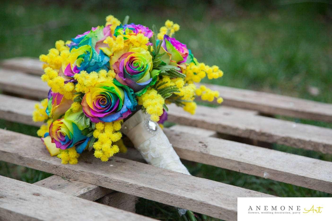 Poza, foto cu Flori de nunta buchet mireasa, maner buchet, multicolor, rotund, trandafiri in Arad, Timisoara, Oradea (wedding flowers, bouquets) nunta Arad, Timisoara, Oradea