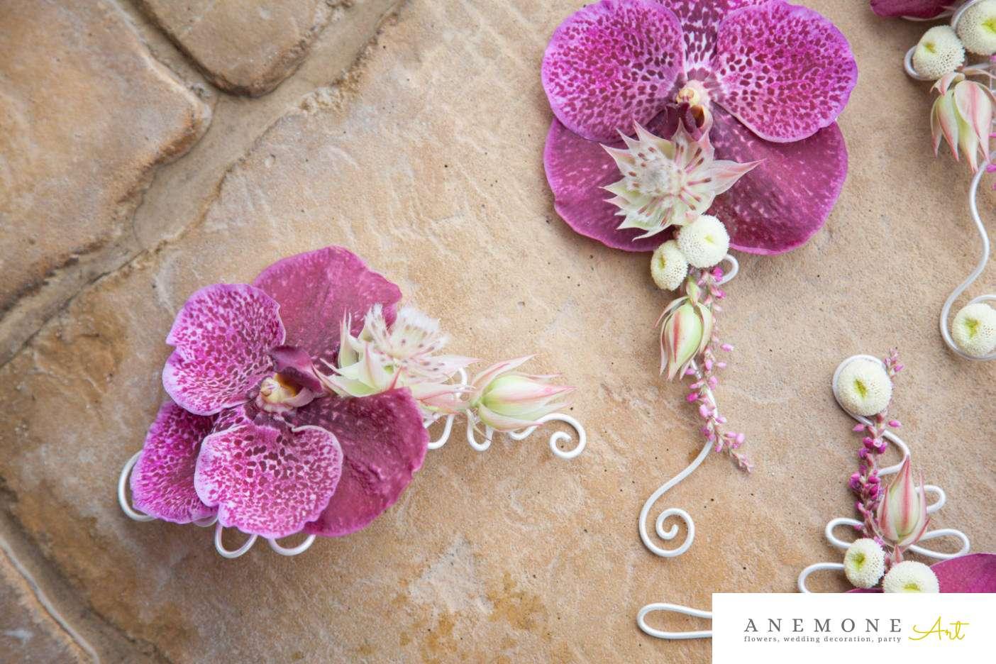 Poza, foto cu Flori de nunta aranjament par, cocarda, orhidee, vanda in Arad, Timisoara, Oradea (wedding flowers, bouquets) nunta Arad, Timisoara, Oradea