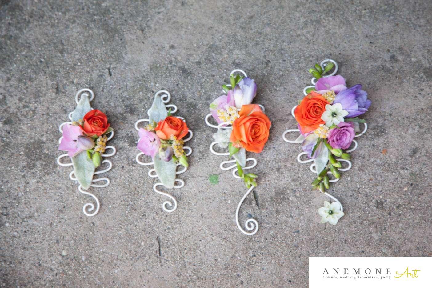 Poza, foto cu Flori de nunta cocarda, frezii in Arad, Timisoara, Oradea (wedding flowers, bouquets) nunta Arad, Timisoara, Oradea