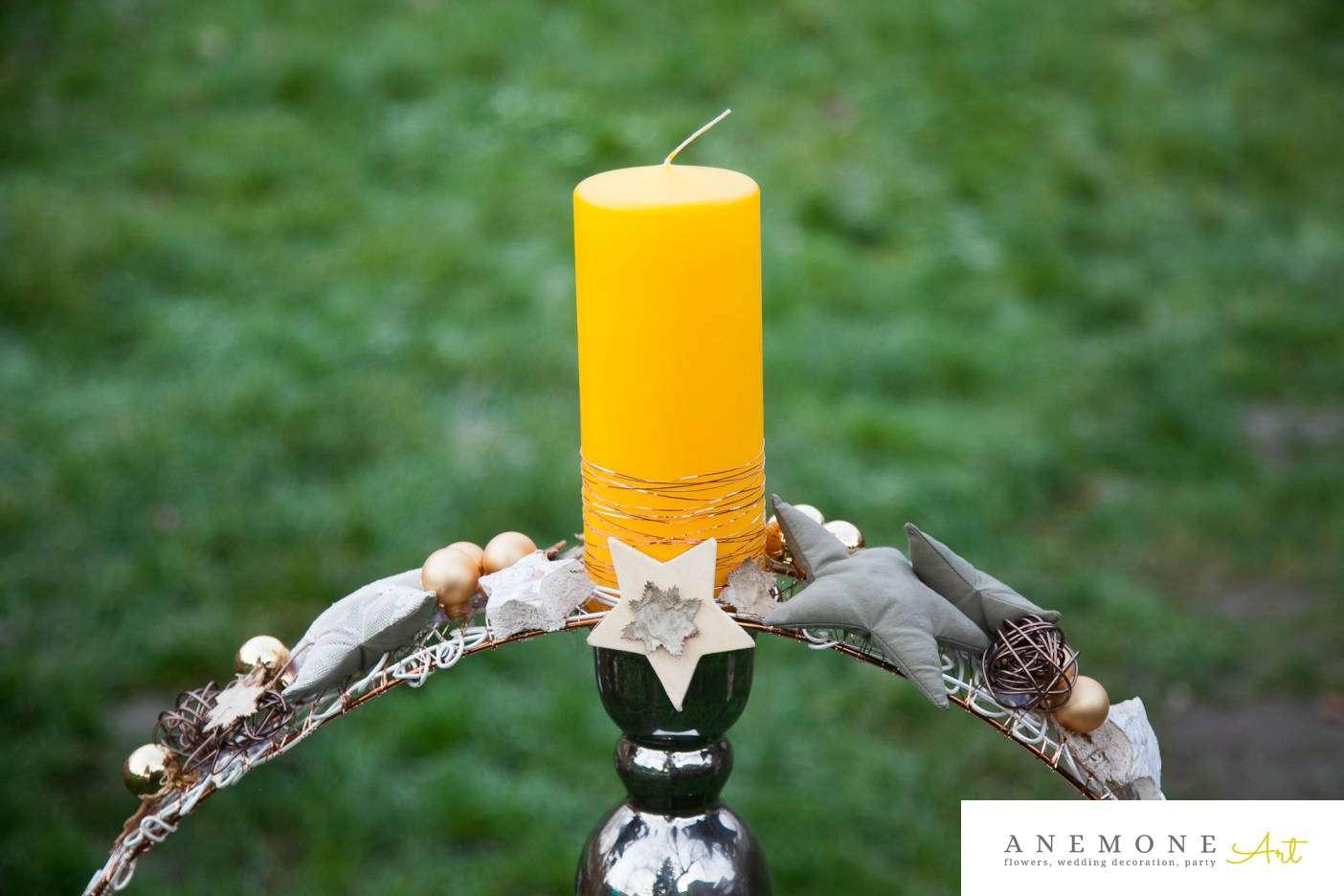 Poza, foto cu Flori de nunta decor craciun, lumanare in Arad, Timisoara, Oradea (wedding flowers, bouquets) nunta Arad, Timisoara, Oradea