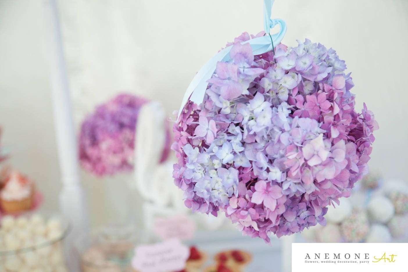 Poza, foto cu Flori de nunta decor candy bar, glob, hortensia in Arad, Timisoara, Oradea (wedding flowers, bouquets) nunta Arad, Timisoara, Oradea