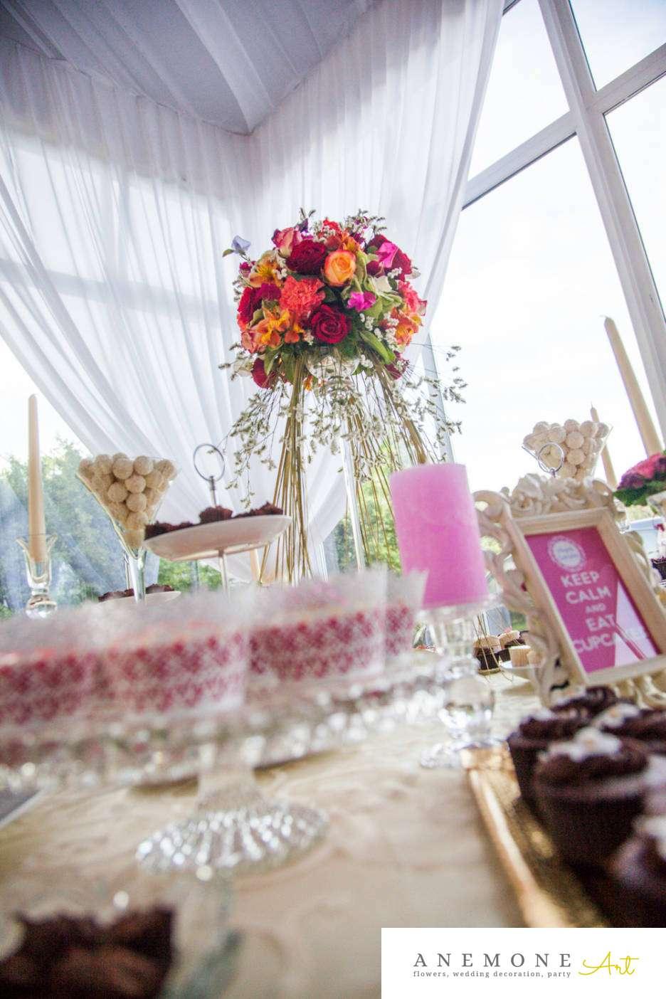 Poza, foto cu Flori de nunta decor candy bar, decor masa, multicolor in Arad, Timisoara, Oradea (wedding flowers, bouquets) nunta Arad, Timisoara, Oradea