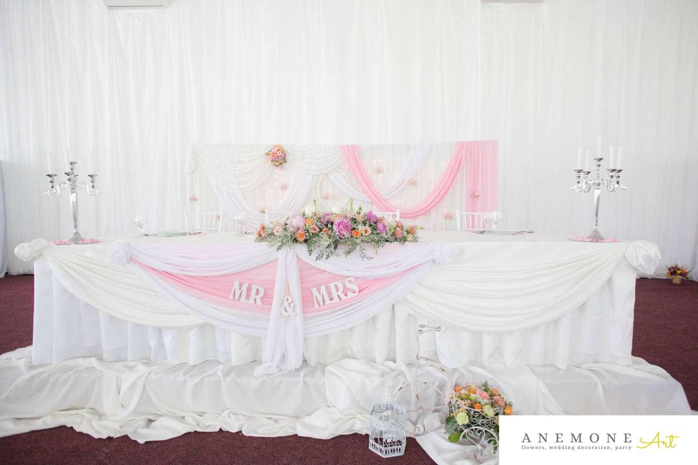 Poza, foto cu Flori de nunta bicicleta, prezidiu, roz in Arad, Timisoara, Oradea (wedding flowers, bouquets) nunta Arad, Timisoara, Oradea