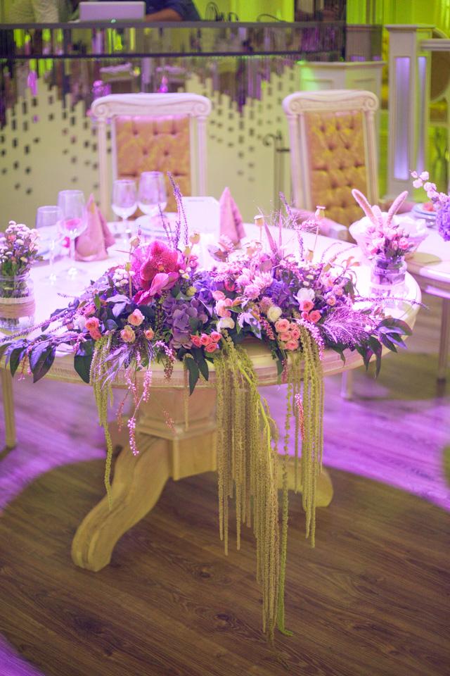 Poza, foto cu Flori de nunta decor sala, prezidiu, vila carol in Arad, Timisoara, Oradea (wedding flowers, bouquets) nunta Arad, Timisoara, Oradea