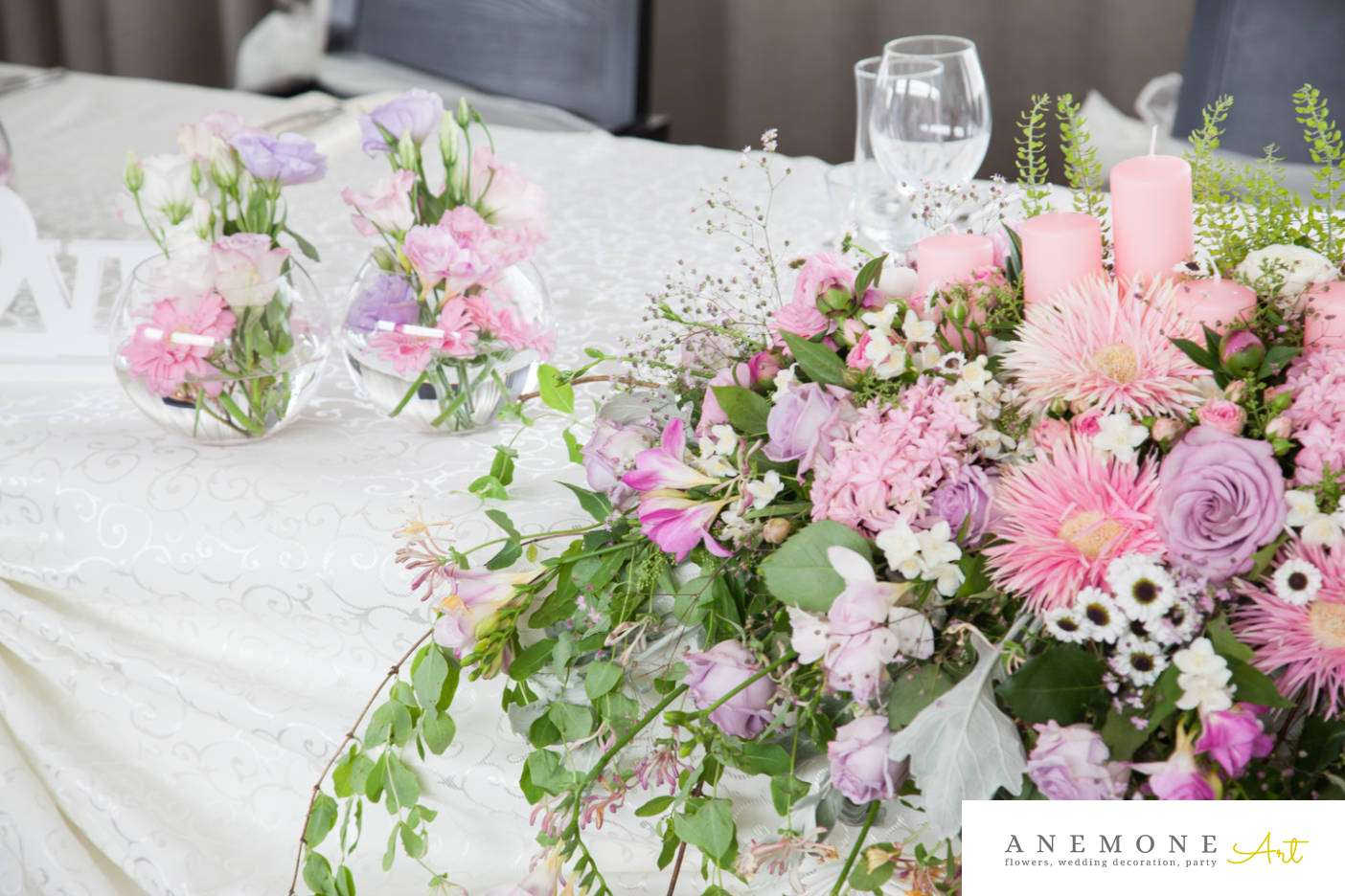 Poza, foto cu Flori de nunta prezidiu, roz in Arad, Timisoara, Oradea (wedding flowers, bouquets) nunta Arad, Timisoara, Oradea