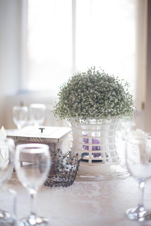 Poza, foto cu Flori de nunta decor masa, gipsofila, milenium garden in Arad, Timisoara, Oradea (wedding flowers, bouquets) nunta Arad, Timisoara, Oradea