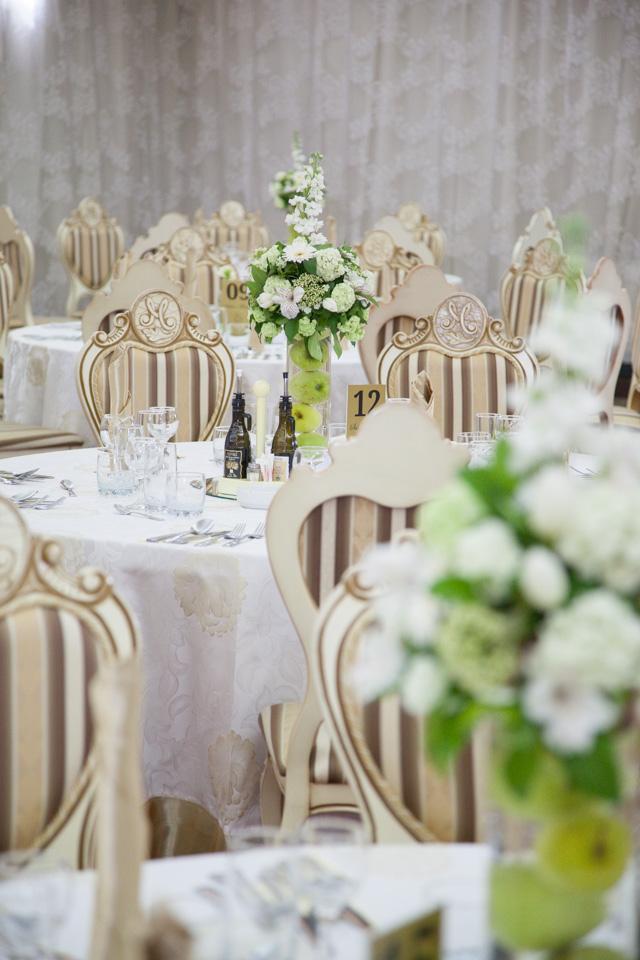 Poza, foto cu Flori de nunta decor masa, mere verzi in Arad, Timisoara, Oradea (wedding flowers, bouquets) nunta Arad, Timisoara, Oradea