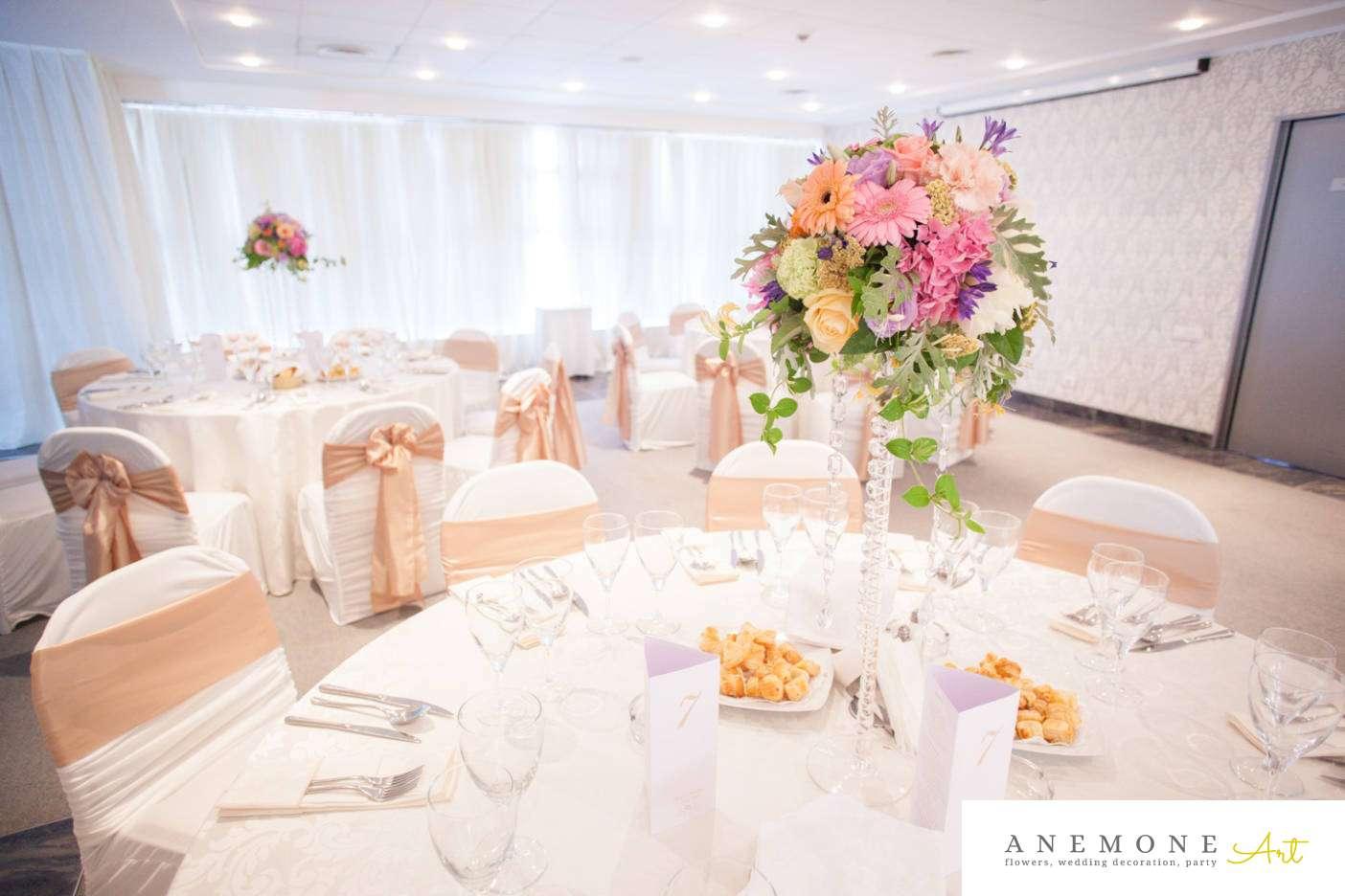 Poza, foto cu Flori de nunta decor masa, hotel continental in Arad, Timisoara, Oradea (wedding flowers, bouquets) nunta Arad, Timisoara, Oradea