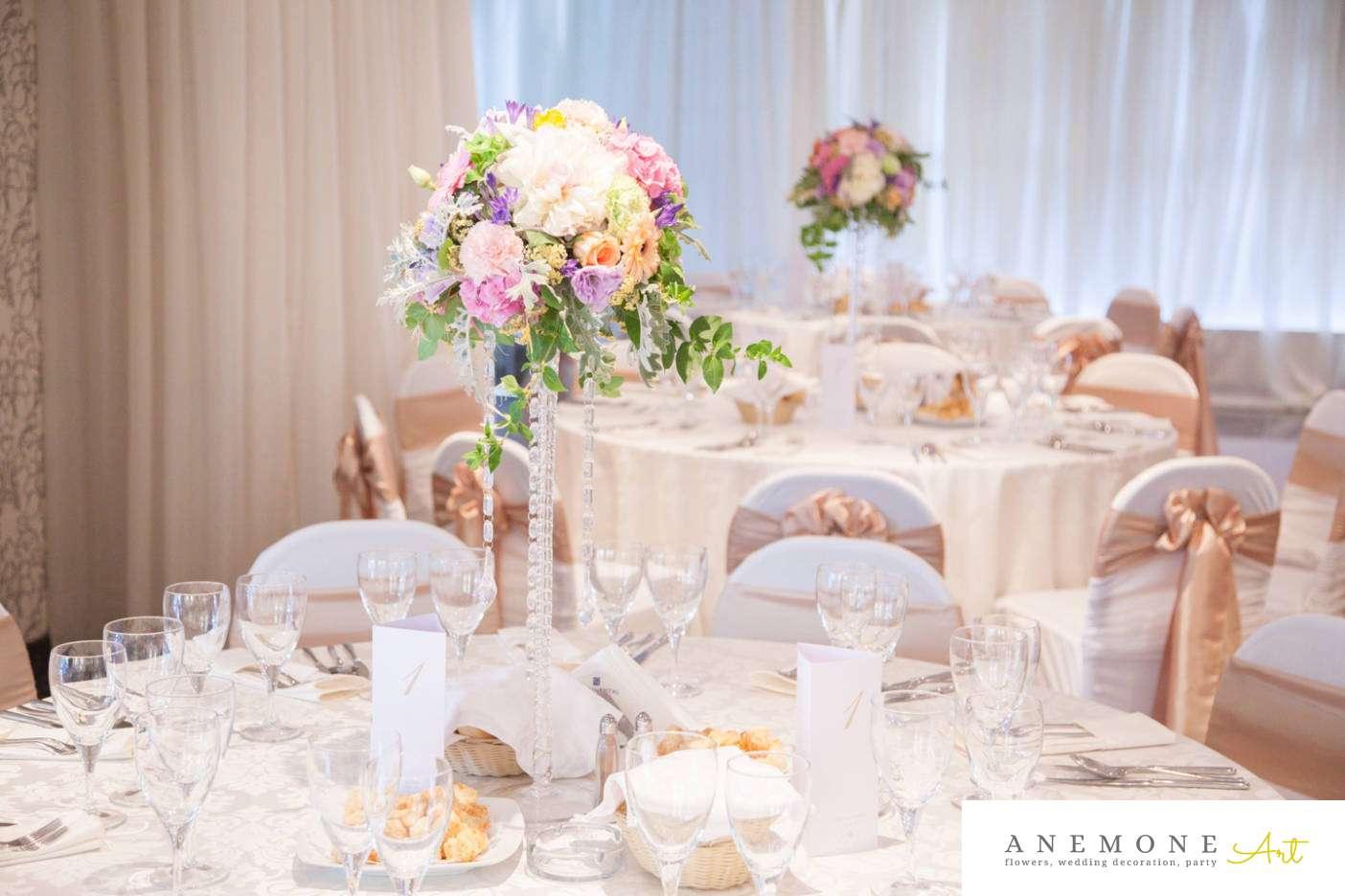 Poza, foto cu Flori de nunta cristale, decor masa, hotel continental, piersica, roz in Arad, Timisoara, Oradea (wedding flowers, bouquets) nunta Arad, Timisoara, Oradea