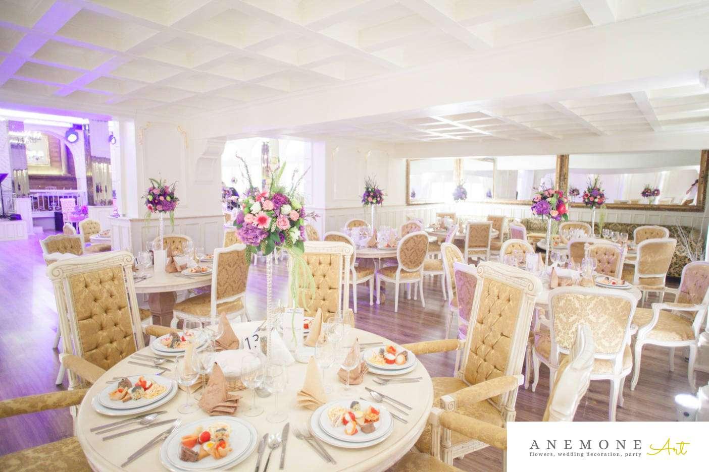 Poza, foto cu Flori de nunta decor masa, mov, ticlam, vila carol in Arad, Timisoara, Oradea (wedding flowers, bouquets) nunta Arad, Timisoara, Oradea