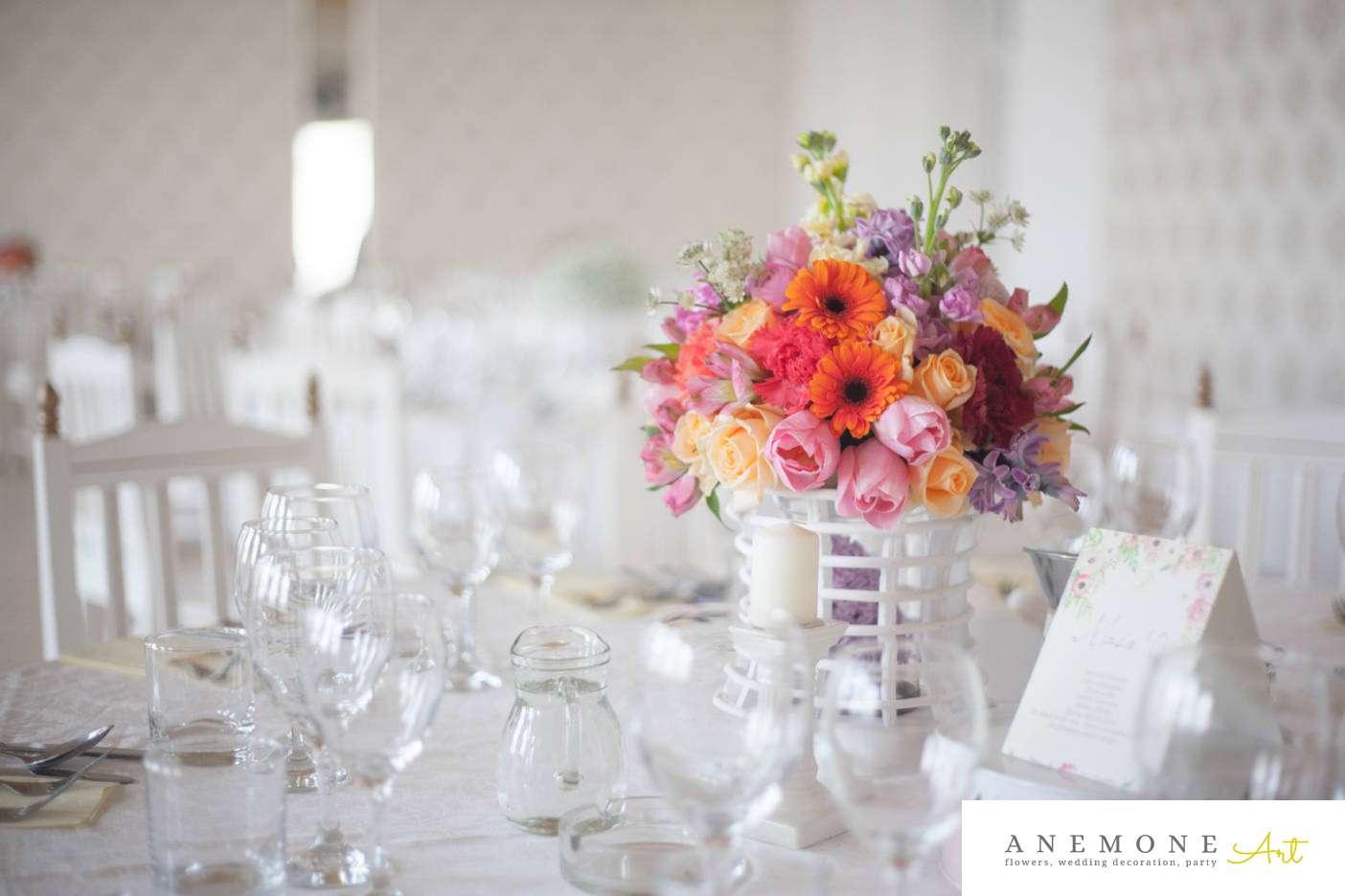 Poza, foto cu Flori de nunta decor masa, milenium garden in Arad, Timisoara, Oradea (wedding flowers, bouquets) nunta Arad