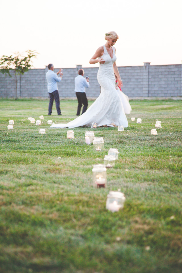 Poza, foto cu Flori de nunta borcane, lumanare in Arad, Timisoara, Oradea (wedding flowers, bouquets) nunta Arad, Timisoara, Oradea