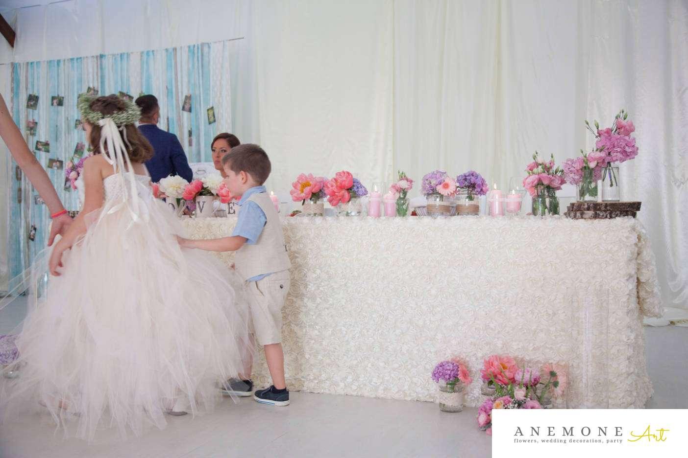Poza, foto cu Flori de nunta lemn, prezidiu in Arad, Timisoara, Oradea (wedding flowers, bouquets) nunta Arad, Timisoara, Oradea