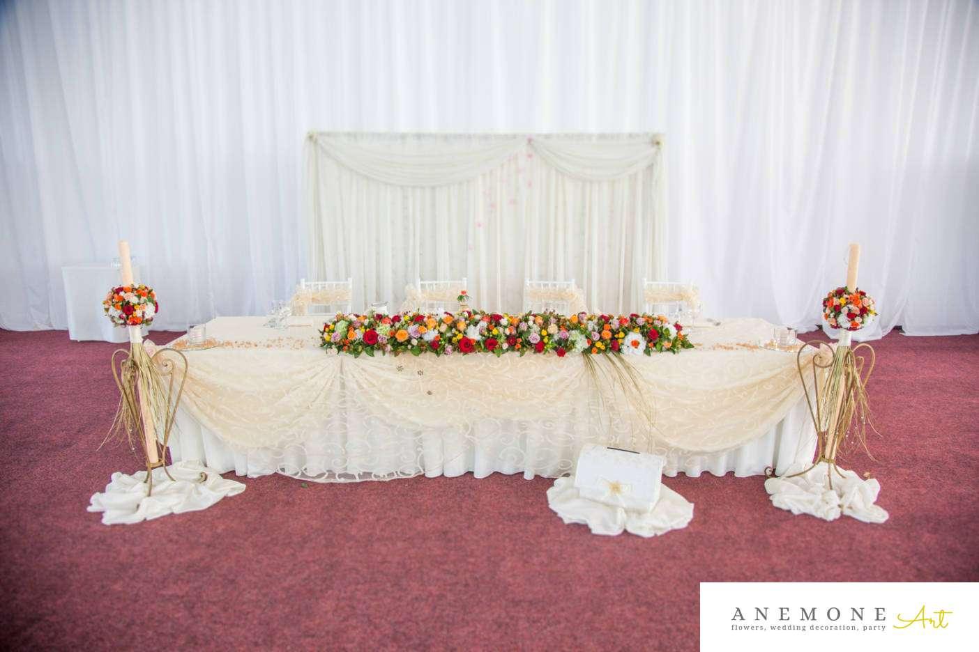 Poza, foto cu Flori de nunta multicolor, prezidiu in Arad, Timisoara, Oradea (wedding flowers, bouquets) nunta Arad, Timisoara, Oradea