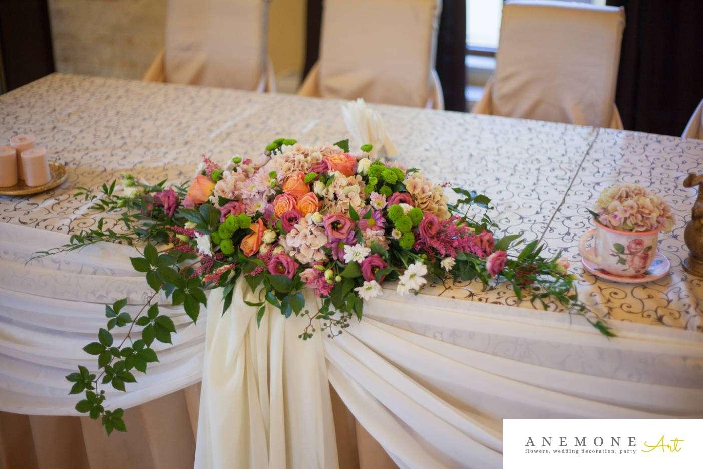 Poza, foto cu Flori de nunta prezidiu, restaurant subcetate in Arad, Timisoara, Oradea (wedding flowers, bouquets) nunta Arad
