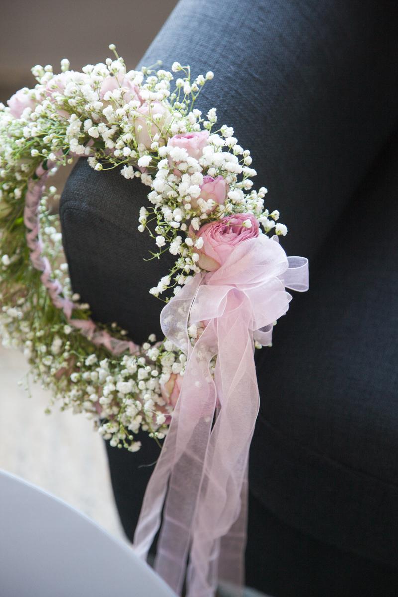 Poza, foto cu Flori de nunta coronita, gipsofila, trandafiri englezesti in Arad, Timisoara, Oradea (wedding flowers, bouquets) nunta Arad, Timisoara, Oradea