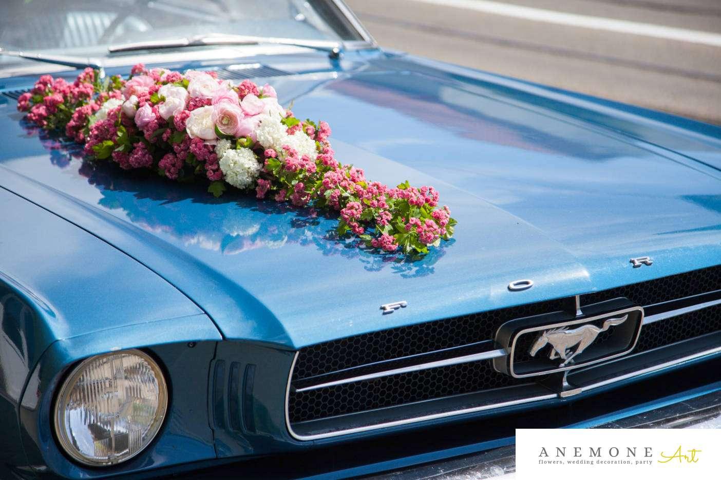 Poza, foto cu Flori de nunta decor masina, roz in Arad, Timisoara, Oradea (wedding flowers, bouquets) nunta Arad, Timisoara, Oradea