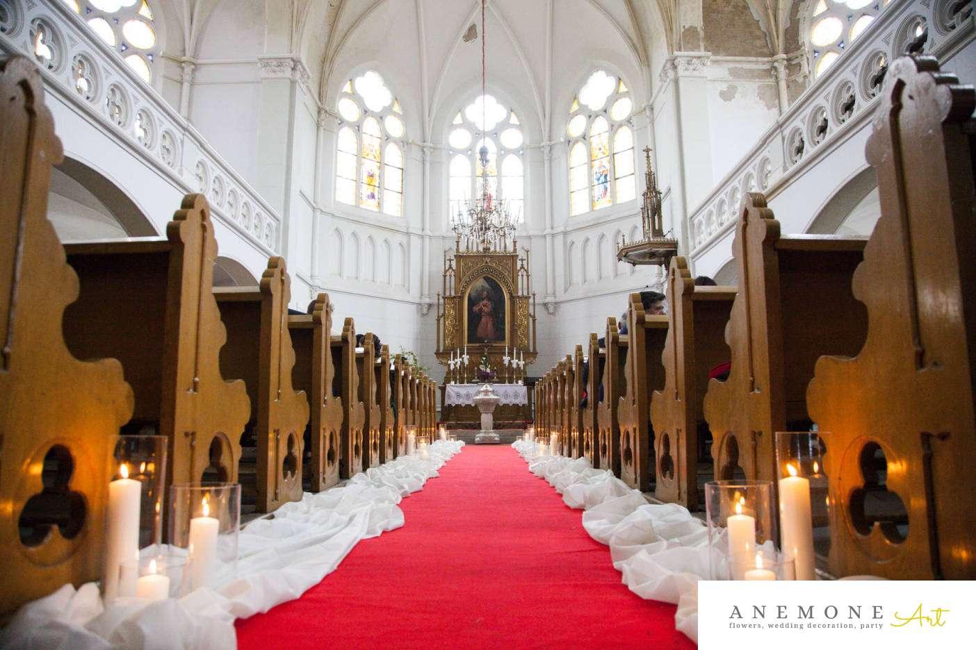 Poza, foto cu Flori de nunta decor biserica, lumanare in Arad, Timisoara, Oradea (wedding flowers, bouquets) nunta Arad, Timisoara, Oradea