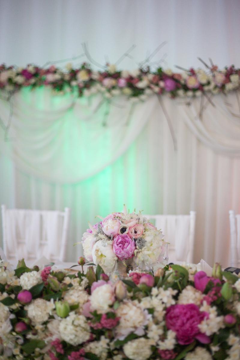 Poza, foto cu Flori de nunta bujori, prezidiu in Arad, Timisoara, Oradea (wedding flowers, bouquets) nunta Arad, Timisoara, Oradea