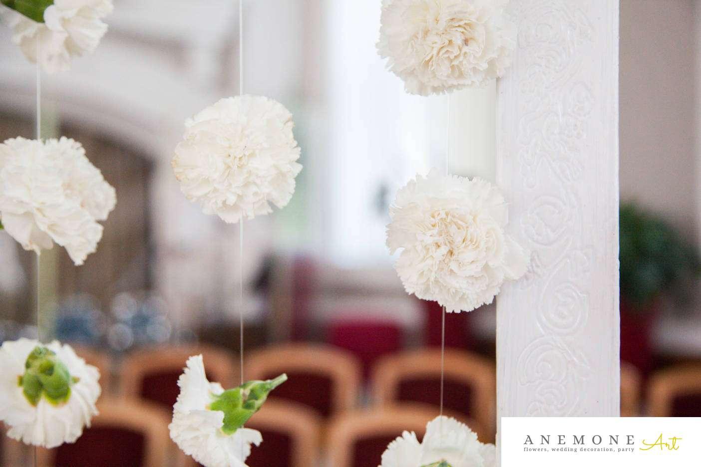 Poza, foto cu Flori de nunta garoafe, perdea flori in Arad, Timisoara, Oradea (wedding flowers, bouquets) nunta Arad, Timisoara, Oradea