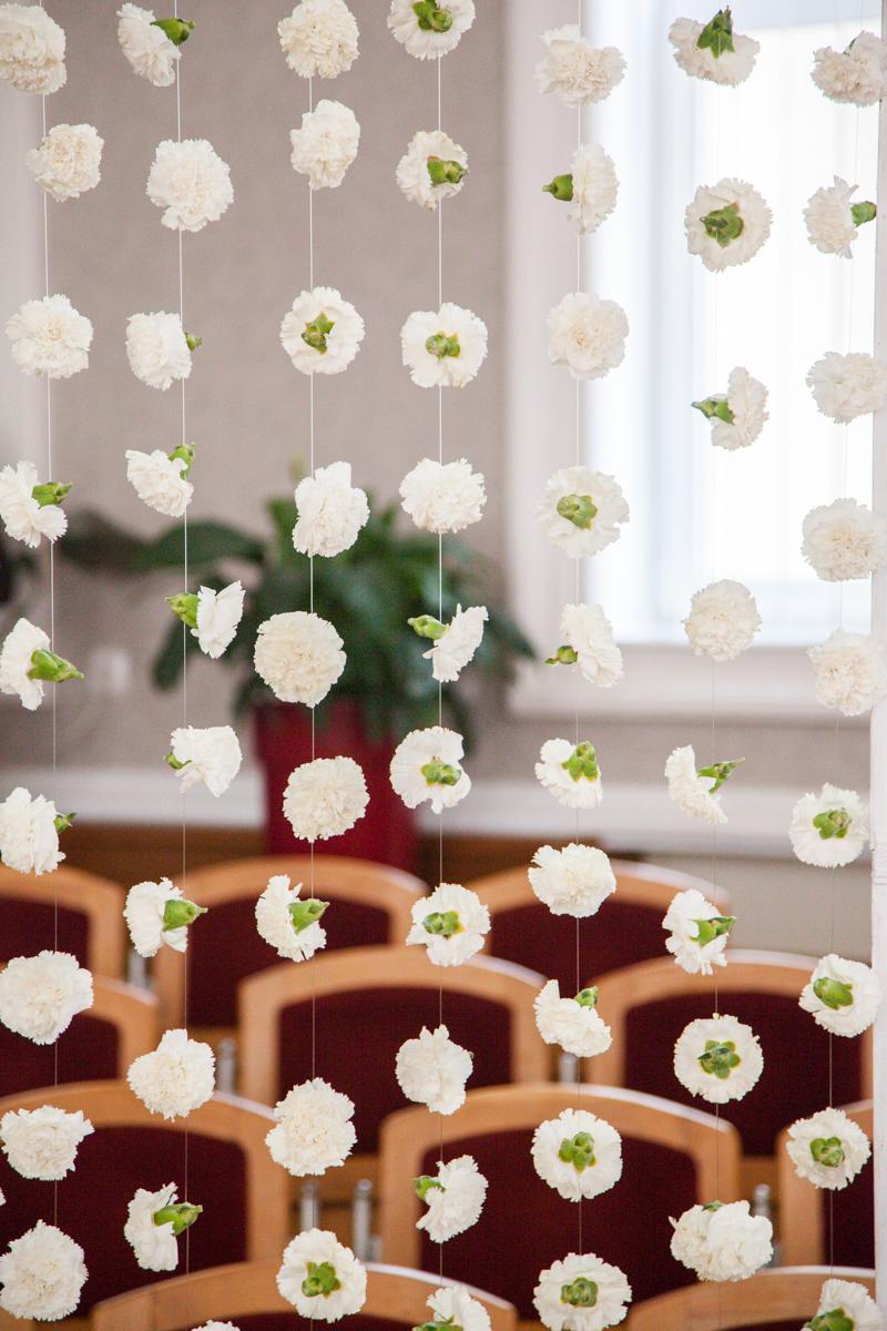 Poza, foto cu Flori de nunta biserica speranta, decor biserica, perdea flori in Arad, Timisoara, Oradea (wedding flowers, bouquets) nunta Arad, Timisoara, Oradea