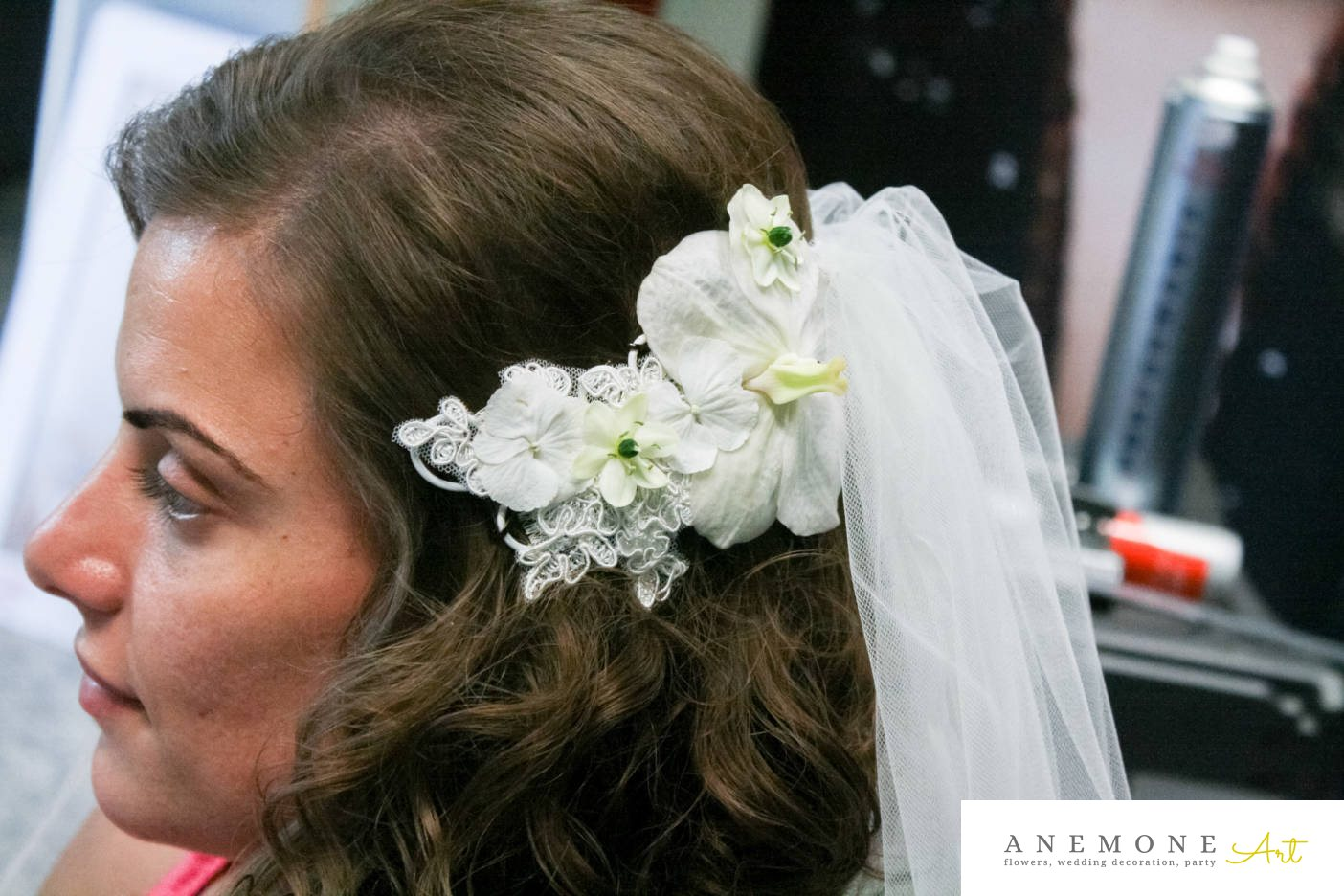 Poza, foto cu Flori de nunta alb, aranjament par, dantela, hortensia, orhidee, ornitogallum in Arad, Timisoara, Oradea (wedding flowers, bouquets) nunta Arad, Timisoara, Oradea