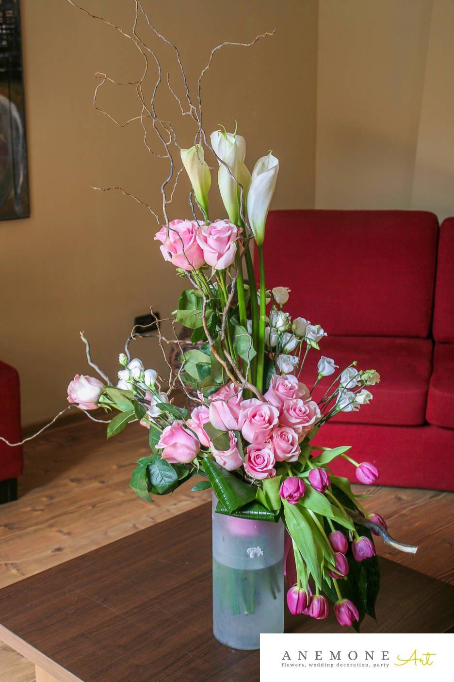 Poza, foto cu Flori de nunta buchet flori, calla, lalele, lisianthus in Arad, Timisoara, Oradea (wedding flowers, bouquets) nunta Arad, Timisoara, Oradea