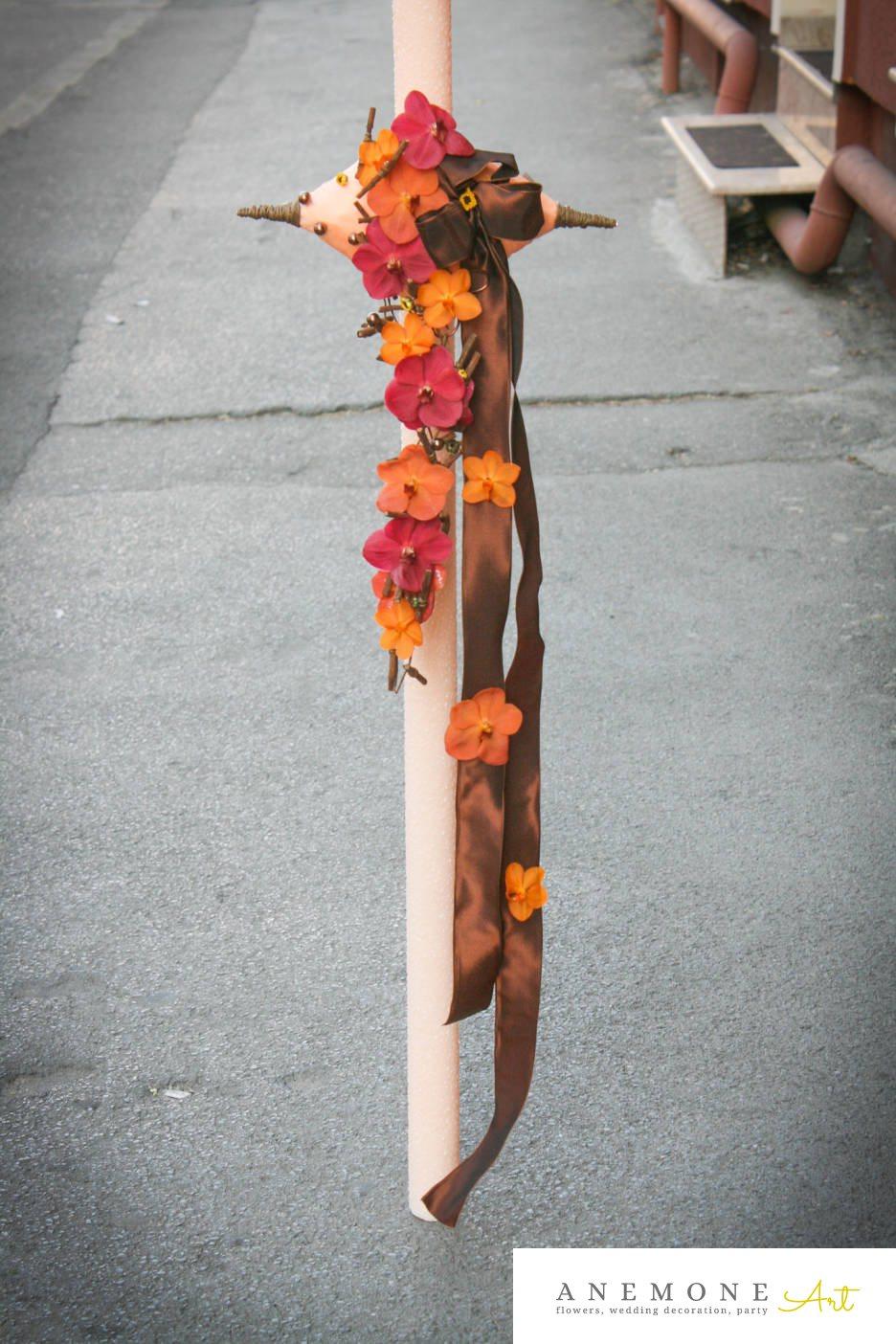 Poza, foto cu Flori de nunta lumanare cununie, orhidee in Arad, Timisoara, Oradea (wedding flowers, bouquets) nunta Arad, Timisoara, Oradea