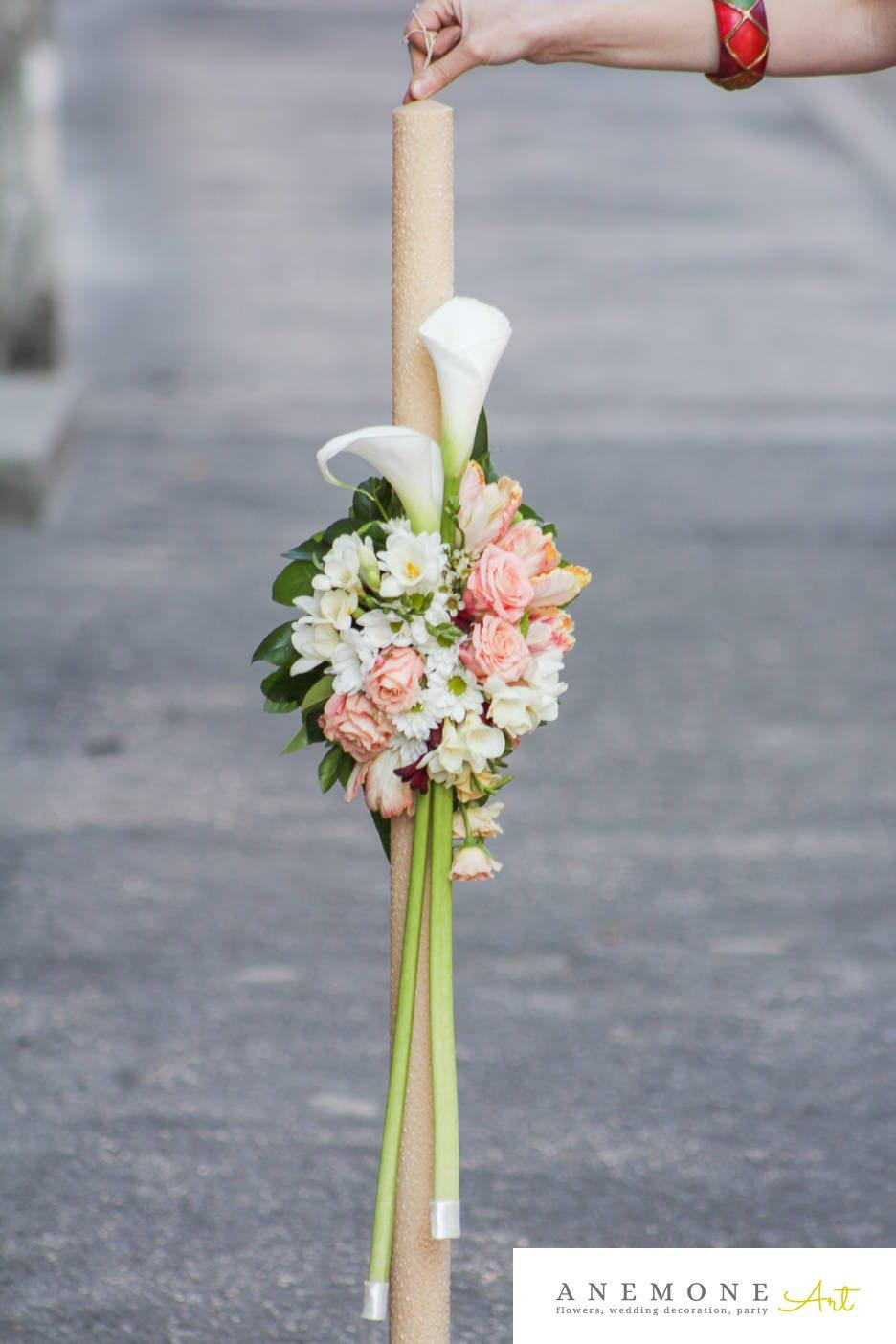 Poza, foto cu Flori de nunta calla, frezii, lalele, lisianthus, lumanare cununie in Arad, Timisoara, Oradea (wedding flowers, bouquets) nunta Arad, Timisoara, Oradea