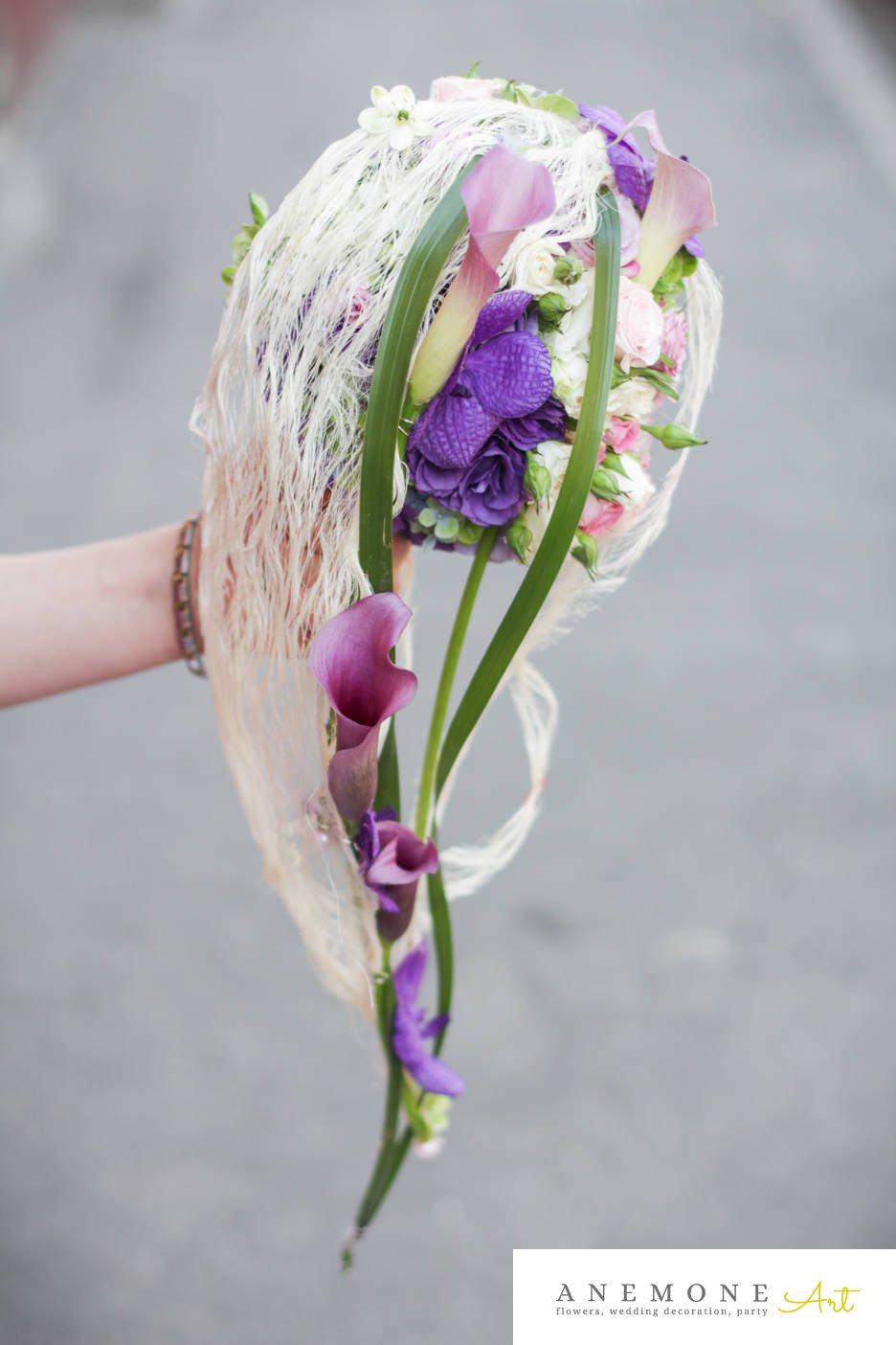 Poza, foto cu Flori de nunta buchet mireasa, calla, orhidee in Arad, Timisoara, Oradea (wedding flowers, bouquets) nunta Arad, Timisoara, Oradea