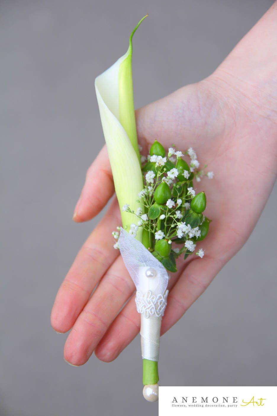 Poza, foto cu Flori de nunta alb, calla, cocarda, dantela, gipsofila, perle in Arad, Timisoara, Oradea (wedding flowers, bouquets) nunta Arad, Timisoara, Oradea