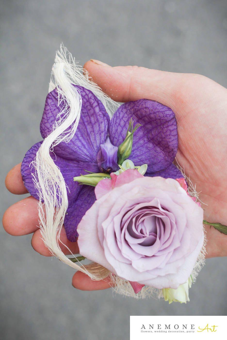Poza, foto cu Flori de nunta cocarda, mini-rosa, mire, mov, orhidee, roz in Arad, Timisoara, Oradea (wedding flowers, bouquets) nunta Arad, Timisoara, Oradea