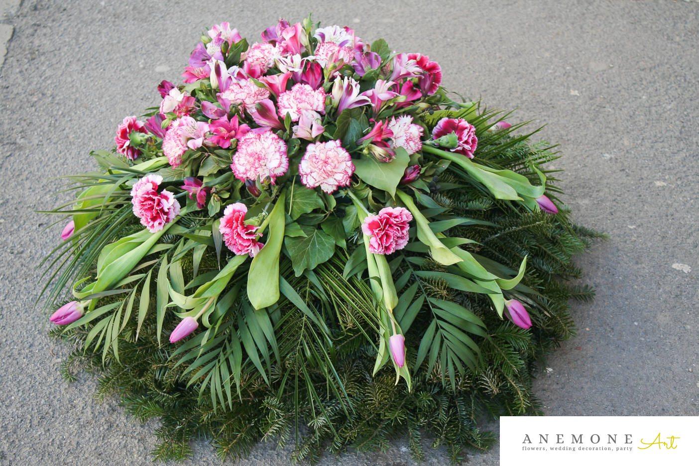 Poza, foto cu Flori de nunta coroana funerara, garoafe, lalele, roz in Arad, Timisoara, Oradea (wedding flowers, bouquets) nunta Arad, Timisoara, Oradea