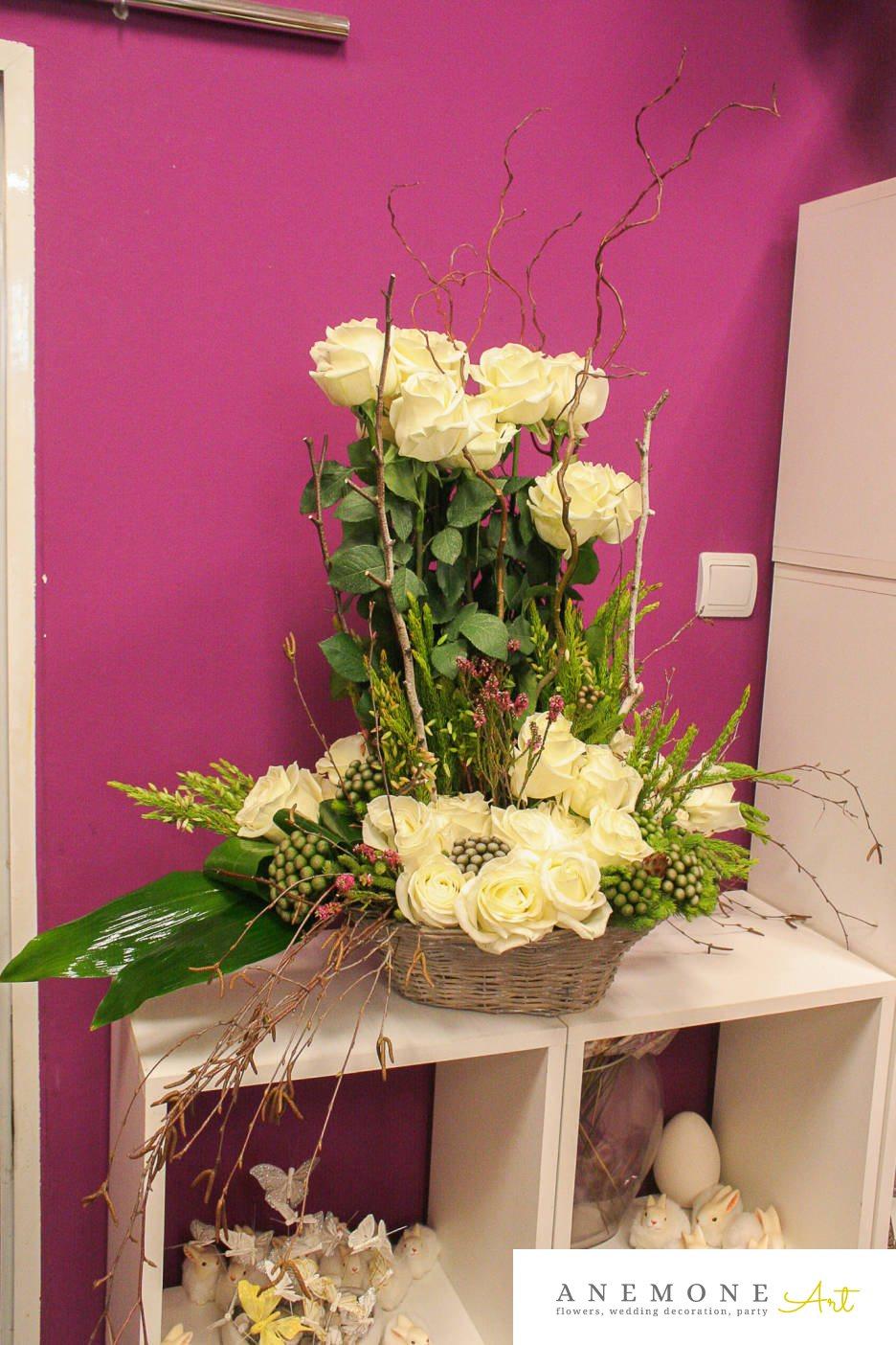 Poza, foto cu Flori de nunta cos flori, decor tematic in Arad, Timisoara, Oradea (wedding flowers, bouquets) nunta Arad, Timisoara, Oradea
