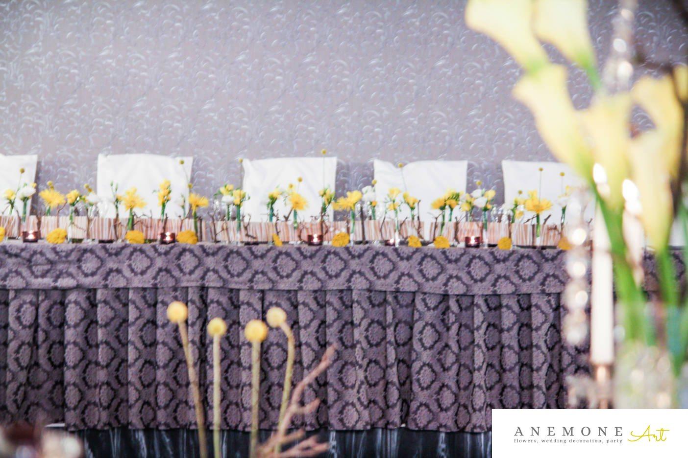 Poza, foto cu Flori de nunta calla, lisianthus, prezidiu in Arad, Timisoara, Oradea (wedding flowers, bouquets) nunta Arad, Timisoara, Oradea