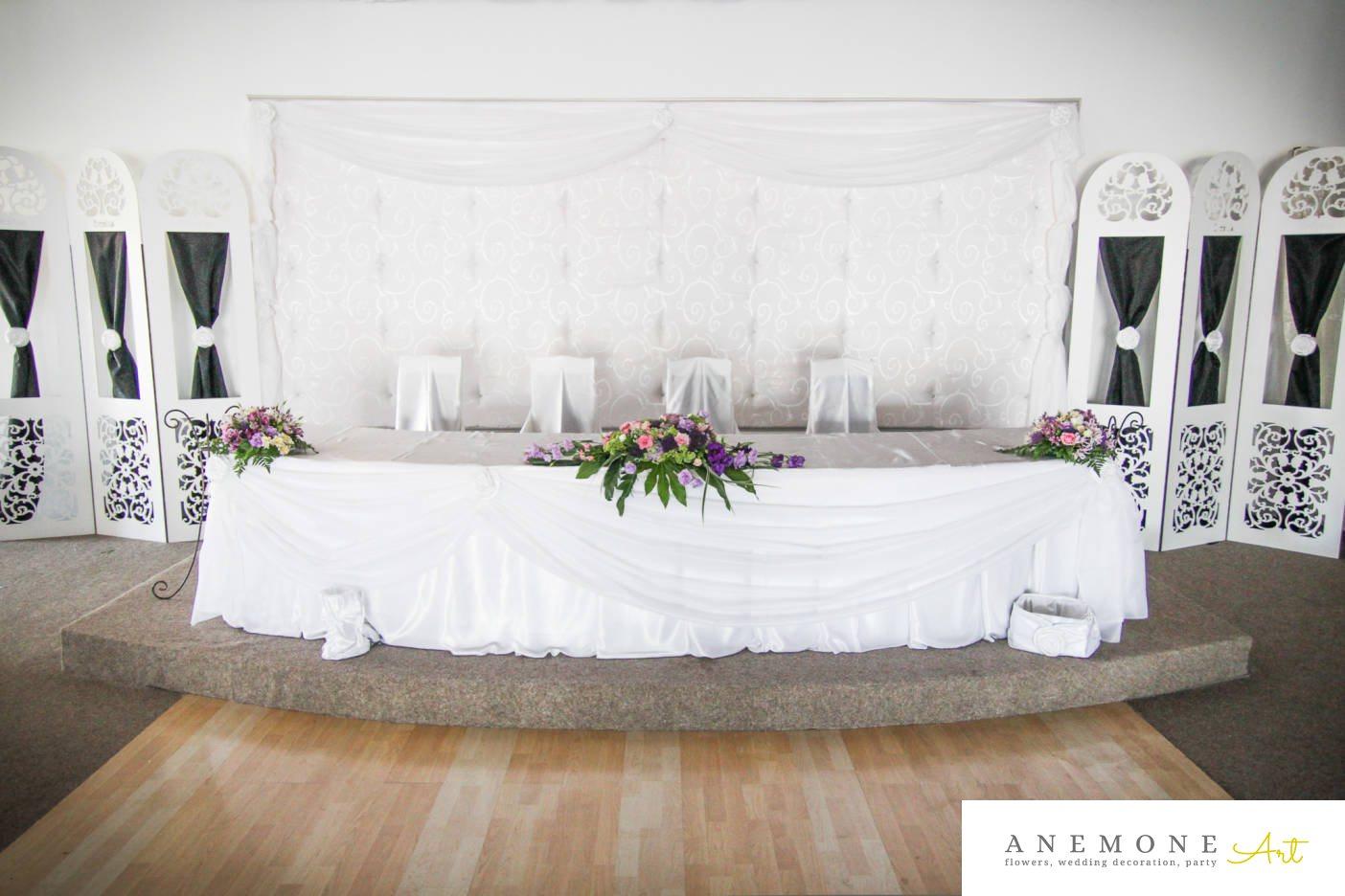 Poza, foto cu Flori de nunta lisianthus, mini-rosa, mov, prezidiu, roz, sebum in Arad, Timisoara, Oradea (wedding flowers, bouquets) nunta Arad, Timisoara, Oradea