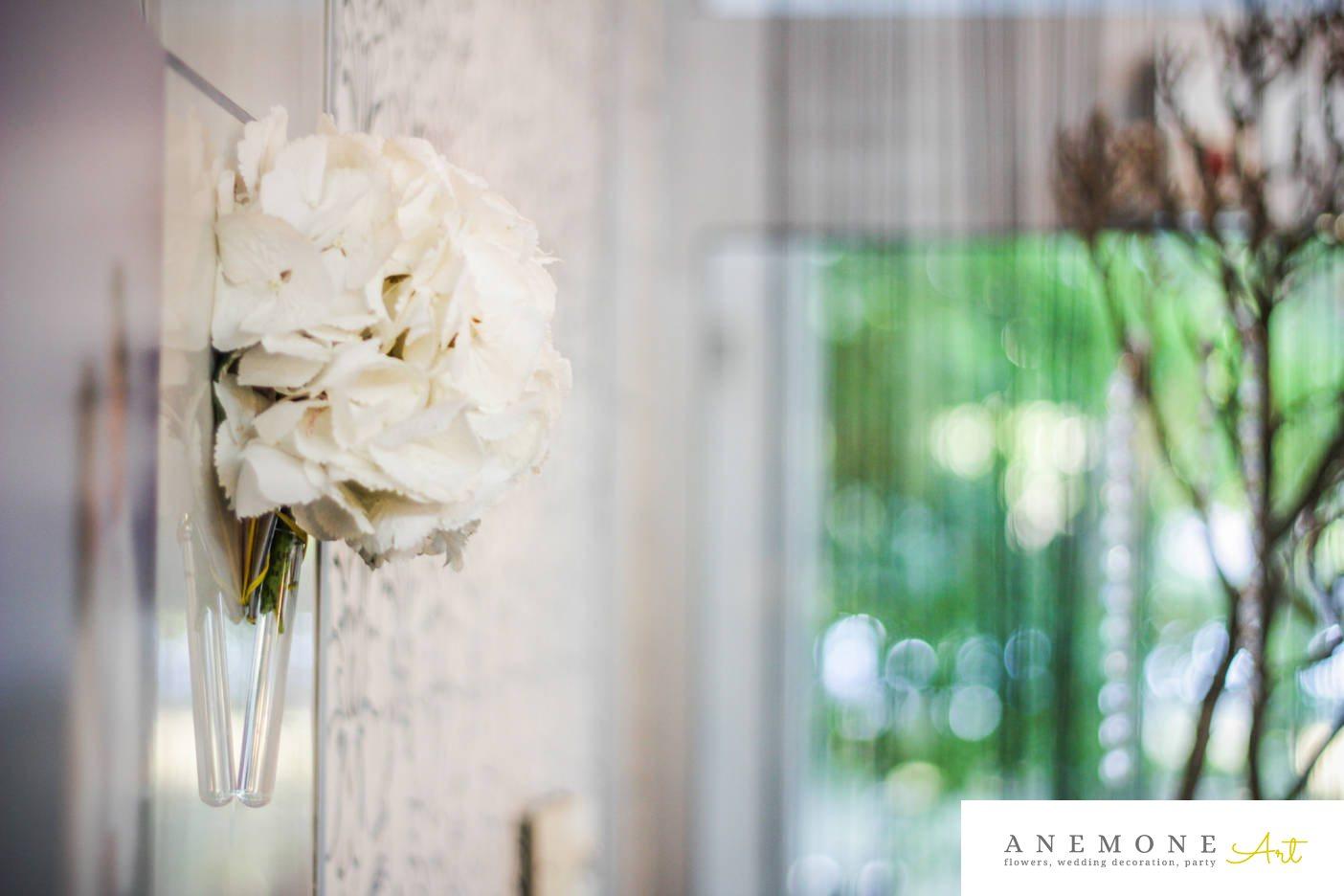 Poza, foto cu Flori de nunta alb, decor sala, hortensia in Arad, Timisoara, Oradea (wedding flowers, bouquets) nunta Arad, Timisoara, Oradea