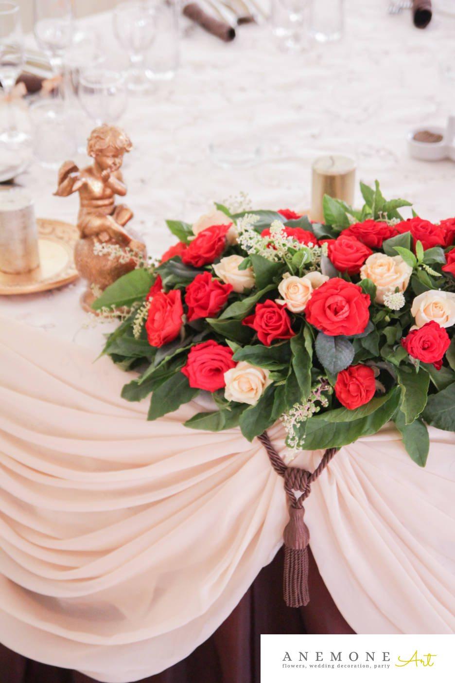 Poza, foto cu Flori de nunta ghirlanda flori, prezidiu in Arad, Timisoara, Oradea (wedding flowers, bouquets) nunta Arad, Timisoara, Oradea