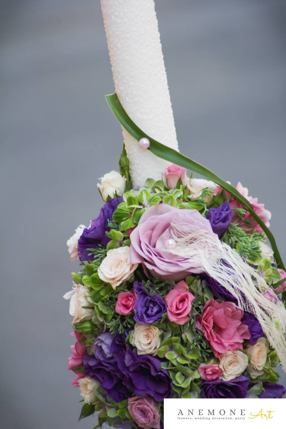 Poza, foto cu Flori de nunta lisianthus, lumanare cununie, mini-rosa, multicolor, perle, trandafiri in Arad, Timisoara, Oradea (wedding flowers, bouquets) nunta Arad, Timisoara, Oradea