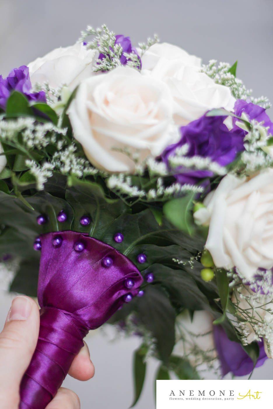 Poza, foto cu Flori de nunta buchet mireasa, lisianthus, maner buchet in Arad, Timisoara, Oradea (wedding flowers, bouquets) nunta Arad, Timisoara, Oradea