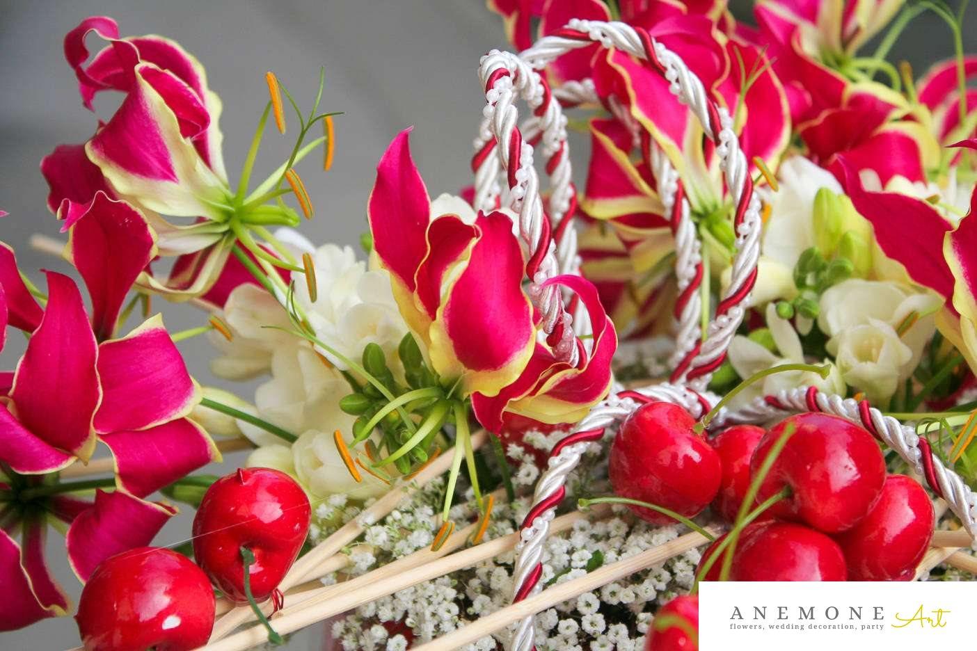 Poza, foto cu Flori de nunta decor tematic, frezii in Arad, Timisoara, Oradea (wedding flowers, bouquets) nunta Arad, Timisoara, Oradea